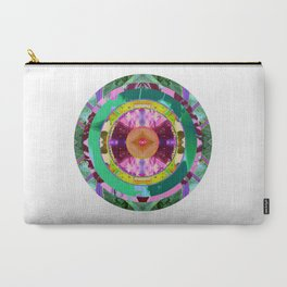 Violet, Green and Yellow Mandala Carry-All Pouch