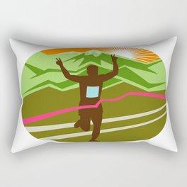 Marathon Finisher Oval Rectangular Pillow