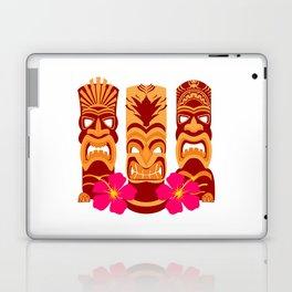 Tiki Statues Set Laptop & iPad Skin