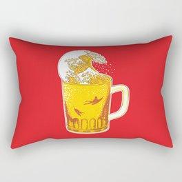 Beer Wave Rectangular Pillow