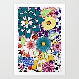 Bloomin' Flowers Art Print