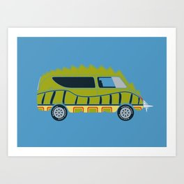 Death Race 2000 Alligator Van Art Print