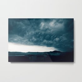 Stormy day in Pozzuoli, Bay of Naples, Italy Metal Print