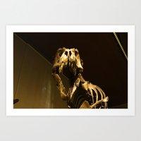t rex Art Prints featuring T-Rex by Vito Fabrizio Brugnola