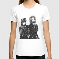 goth T-shirts featuring Goth Detectives by Grace Mutton