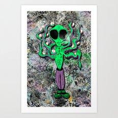 Stecktopus Spacely Art Print