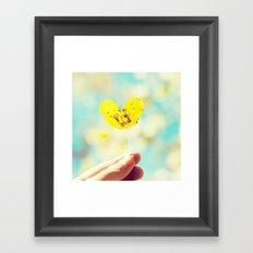 Heart Leaf. Framed Art Print