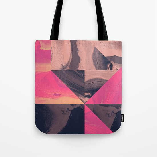 Triangular Magma Tote Bag