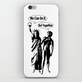 Feminism. Libertad y David. We can do it !. Power of woman iPhone Skin