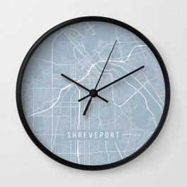Shreveport Map, USA - Slate Wall Clock