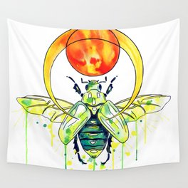 Scarab Beetle Wall Tapestry
