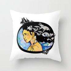Pirate Nereid - Color Throw Pillow