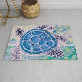 Sea Turtle Geodes Rug