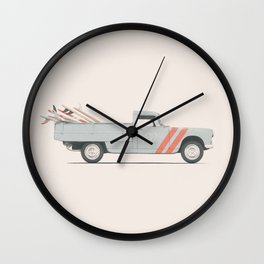 Surfboard Pick Up Van Wall Clock