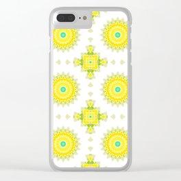 Geometrical ornamental textile pattern background Clear iPhone Case