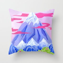 Lonely mountain Throw Pillow