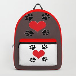 Hearts and 4 Paws Backpack