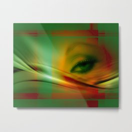 she is watching you Metal Print