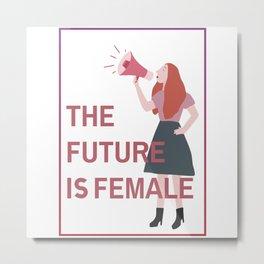 Female Future Metal Print
