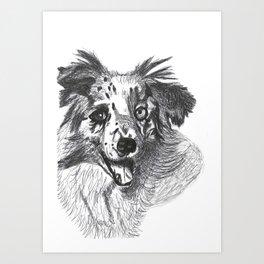 Nifty the dog Art Print
