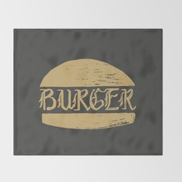 Ye old Burger Throw Blanket