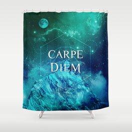 CARPE DIEM GEOMETRY Shower Curtain