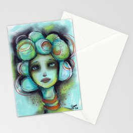 Original Chalk Pastel Illustration by Jenny Manno Stationery Cards
