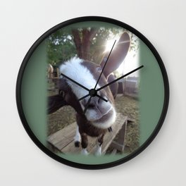 Goat Barnyard Farm Animal Wall Clock
