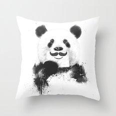 Funny panda Throw Pillow