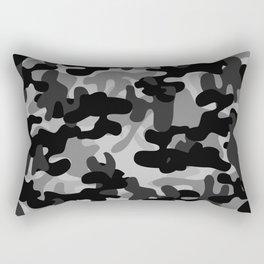 Camouflage (Gray) Rectangular Pillow