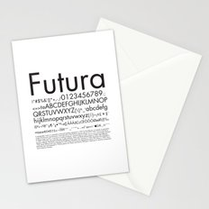 Futura (Black) Stationery Cards