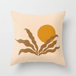 wavy sun Throw Pillow