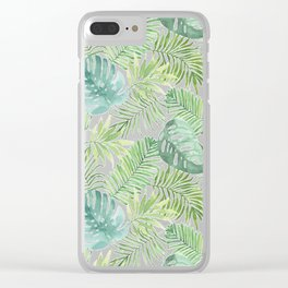 Tropical Branches Pattern 06 Clear iPhone Case