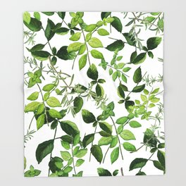 I Never Promised You an Herb Garden Throw Blanket