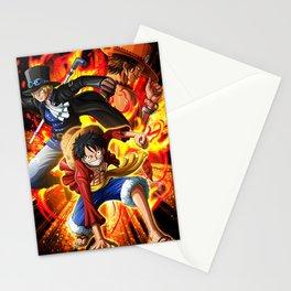 lufy,sabo,ace - One piece Stationery Cards