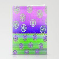 circles Stationery Cards featuring Circles by Fine Art by Rina