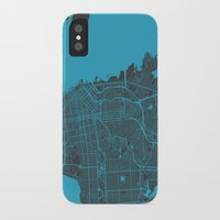san francisco iPhone & iPod Cases featuring San Francisco by Map Map Maps