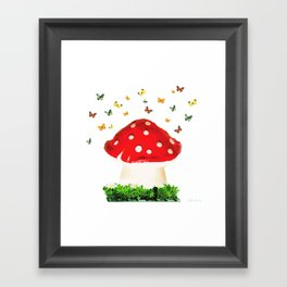 the magical toad stool Framed Art Print