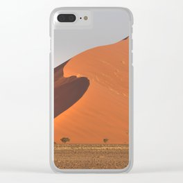 The red sand dunes of Sossusvlei desert, Namibia Clear iPhone Case