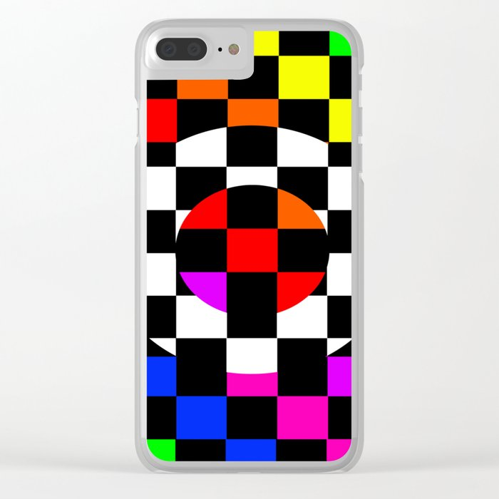 Triggle   Colorful Secret Geomoetry   Play Clear iPhone Case