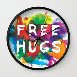 free hugs Wall Clock