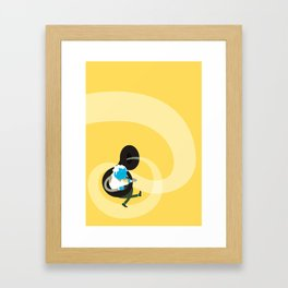 Make it up as you go along - yellow Framed Art Print