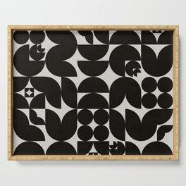 Black & White Mid Century Modern Pattern Serving Tray
