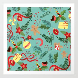 Christmas Pattern 5 Art Print
