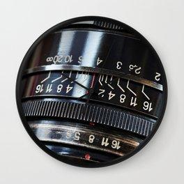 Retro photo slr camera lens Wall Clock