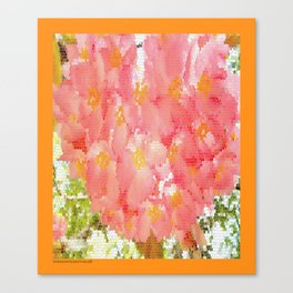 Mexico Blossom Pink & Yellow Flower Canvas Print