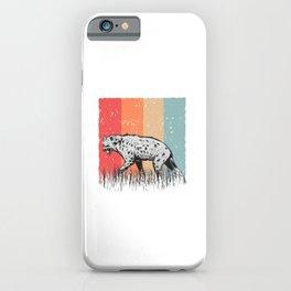Hyena Vintage Stain Hyena Vintage Spotted Hyena iPhone Case