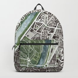 Sevilla city plan Backpack