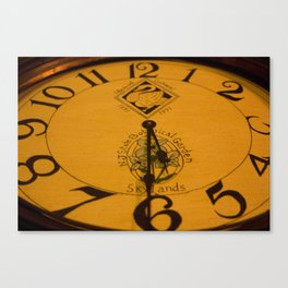 Skyland Manor Clock Canvas Print