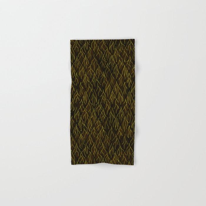 Earthen Scales, Golden Streams Hand & Bath Towel